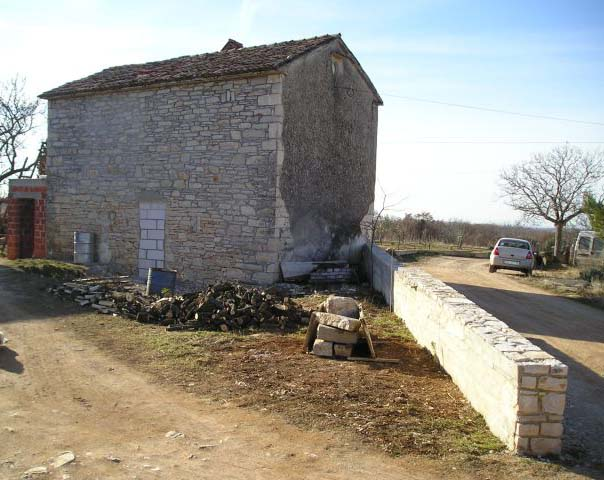 Front side of the stone house